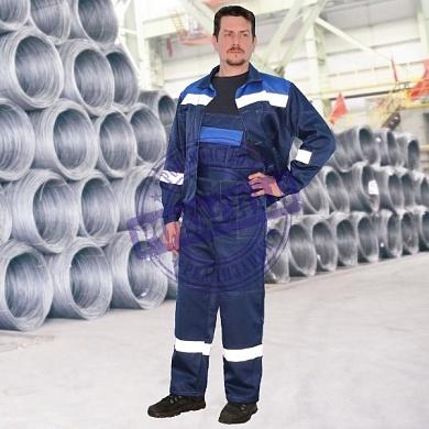 Костюм смесовый, т.синий василек (куртка-п ком) с СОП 50
