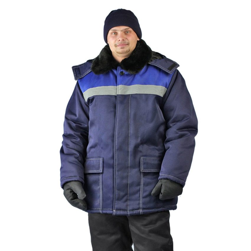 Куртка зимняя УРАЛ цвет т.синий-василек